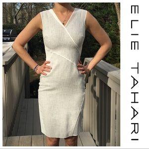 Elie Tahari Color Block Sleeveless Sheath Dress